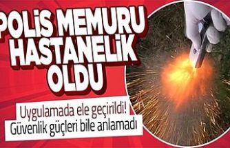 Eyüpsultan'da kumanda görünümlü tabanca ateş aldı, polis yaralandı