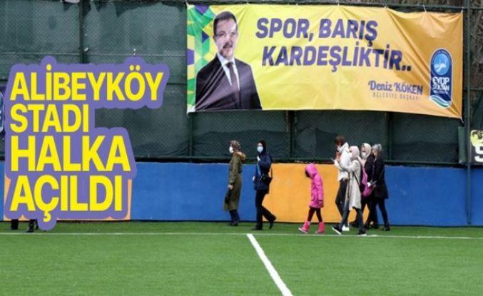 Alibeyköy Stadı halka açıldı