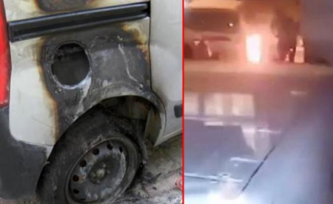 Sultangazi'de başkasıyla evlendirilmek istenen sevdiği kadının babasının otomobilini yaktı