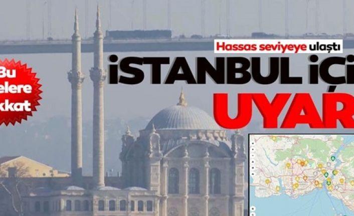 """İstanbul'da korkutan görüntü! Hava kirliliği Sultangazi, Aksaray, Esenler, Bağcılar ve Kadıköy'de """"hassas"""" seviyeye ulaştı"""