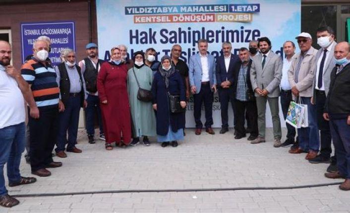 Türkiye'nin Örnek Kentsel Dönüşüm Projesinde Gaziosmanpaşa'da Hak Sahipleri Dairelerine Kavuştu