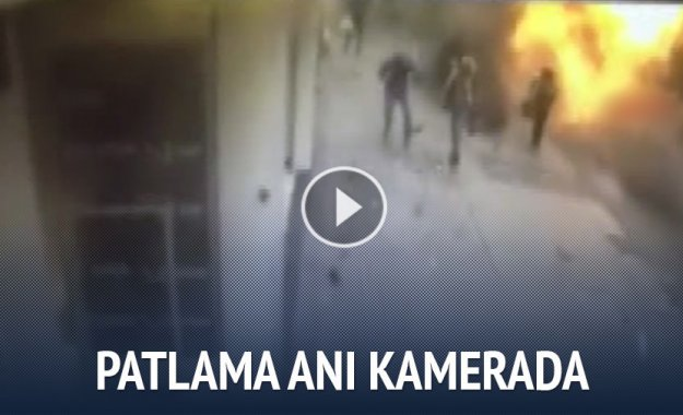 İSTİKLAL CADDESİNDE PATLAMA ANI KAMERADA