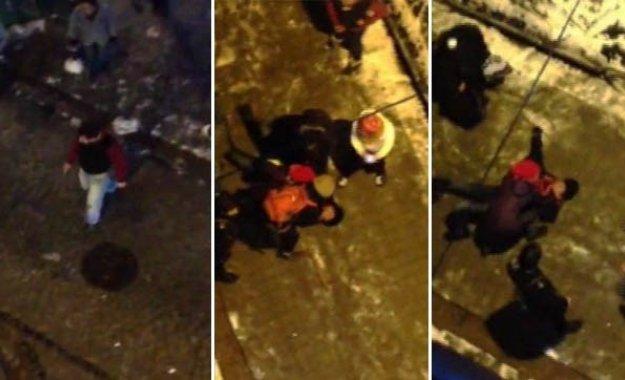 Gazetecinin öldüğü kartopu cinayeti kamerada